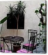 Pink And Purple Patio Canvas Print