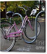 Pink Bicycle . 7d10159 Canvas Print
