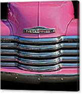 Pink Chevrolet Truck Canvas Print