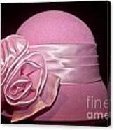 Pink Cloche Hat Canvas Print