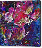 Pink Floral Abstract Canvas Print