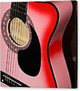Pink Guitar Canvas Print