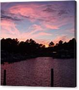 Pink N Blue Sunset On The Chesapeake Bay Va Canvas Print