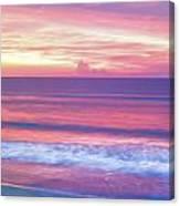 Pink Ocean Sunrise Canvas Print
