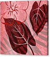 Pink Poster Floral Canvas Print