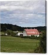 Pink Roof Farm Canvas Print