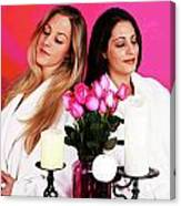 Pink Spa Sisters Canvas Print
