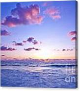 Pink Sunset On The Beach Canvas Print