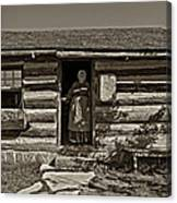 Pioneer Greeting Monochrome Canvas Print