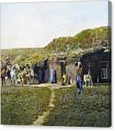 Pioneers Sod House, 1887 Canvas Print