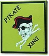 Pirate Crossing Beware Canvas Print