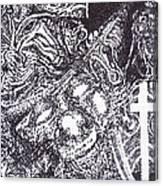 Pirate Monkey Squid Clam Canvas Print