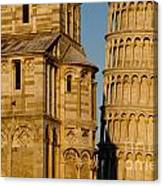 Pisa Tower And Cathedral Canvas Print