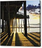 Pismo Pier Sunset II Canvas Print