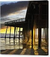 Pismo Pier Sunset IIi Canvas Print