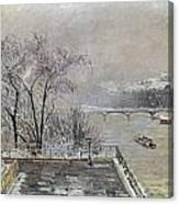 Pissarro: Louvre, 1902 Canvas Print