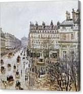 Pissarro: Theatre Francais Canvas Print