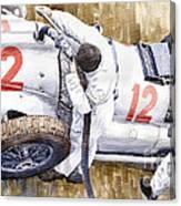 Pit Stop German Gp 1939 Mercedes Benz W154 Rudolf Caracciola Canvas Print