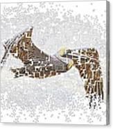 Pixel Pelicano Canvas Print