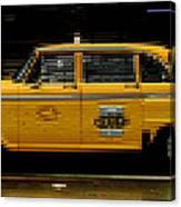 Pixel Taxi Canvas Print
