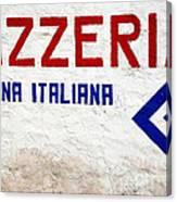 Pizzeria Advertising Sign Canvas Print