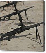 Pk General-purpose Machine Guns Stand Canvas Print