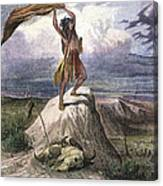 Plains Native American: Signal, 1873 Canvas Print