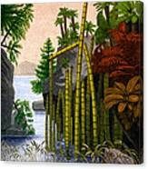 Plants Of The Triassic Period Canvas Print