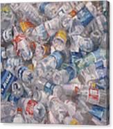 Plastic Bottles Canvas Print