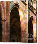 Play Of Light And Shadow - Saint Vitus' Cathedral Prague Castle Canvas Print
