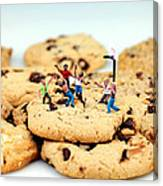 Playing Basketball On Cookies Canvas Print