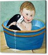 Playing In The Tub Canvas Print