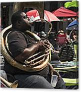 Playing The Tuba _ New Orleans Canvas Print