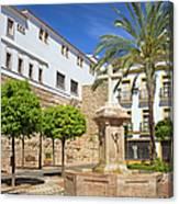 Plaza De La Iglesia In Marbella Canvas Print