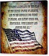 Pledge Canvas Print