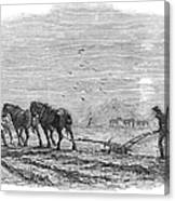 Ploughing, 1846 Canvas Print
