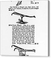 Plow Advertisement, C1890 Canvas Print