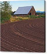 Plow Designs And A Barn Canvas Print