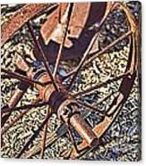 Plow Wheel Canvas Print