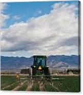 Plowing Field Canvas Print