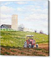 Plowing In Canvas Print