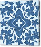 Plumeria Hawaiian Quilt Block Canvas Print