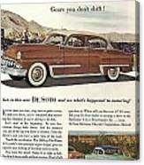 Plymouth De Soto 1953 Canvas Print