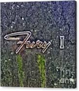 Plymouth Fury Logo Canvas Print