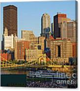 Pnc Park And River Boat Canvas Print