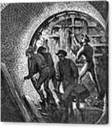 Pneumatic Transit, 1870 Canvas Print