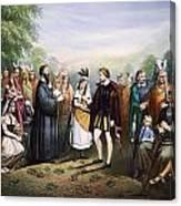 Pocahontas & John Rolfe Canvas Print