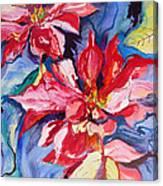 Poinsettia Color Canvas Print