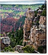 Point Imperial Cliffs Grand Canyon Canvas Print