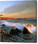 Point Judith Lighthouse Seascape Canvas Print